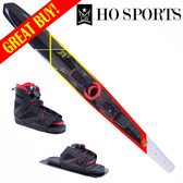 "HO Sports Omni 67"" Slalom Ski with FreeMax Front Boot & Adj Rear Toe 2018"