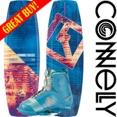 Connelly Wild Child 136cm Women's Wakeboard Package with Empire Boots 2018 On Sale!