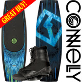 Connelly The Standard 143cm Wakeboard Package with Draft Boots