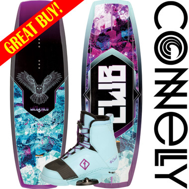 Connelly Wild Child 136cm Women's Wakeboard Package with Empire Boots 2017