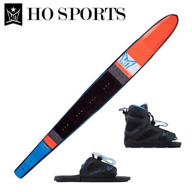 """HO Sports Freeride 71"""" Slalom Ski with FreeMax Front Boot & Adj Rear Toe"""