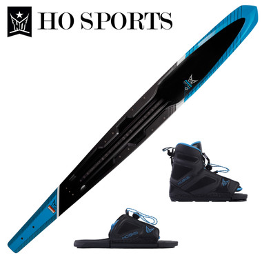 "HO Sports Omni 67"" Slalom Ski with FreeMax Front Boot & Adj Rear Toe 2019"
