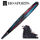 """HO Sports Carbon Omni 67"""" Slalom Ski with Double XMax Boots 2019"""