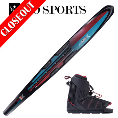 """HO Sports Carbon Omni 67"""" Slalom Ski with Double XMax Boots 2019 ON SALE!"""