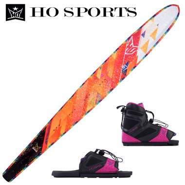 "HO Sports Women's Freeride 65"" Slalom Ski with FreeMax Front Boot & Adj Rear Toe"