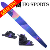 "HO Sports Women's Freeride 65"" Slalom Ski with FreeMax Front Boot & Adj Rear Toe 2018"