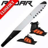 "Radar Katana Slalom 69"" with Vector Front Boot & Adj Rear Toe Plate ON SALE!"