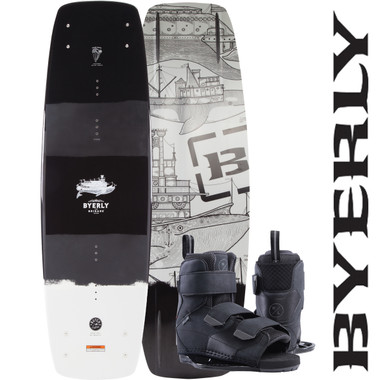 Byerly Brigade 139 cm Wakeboard with Formula Boots