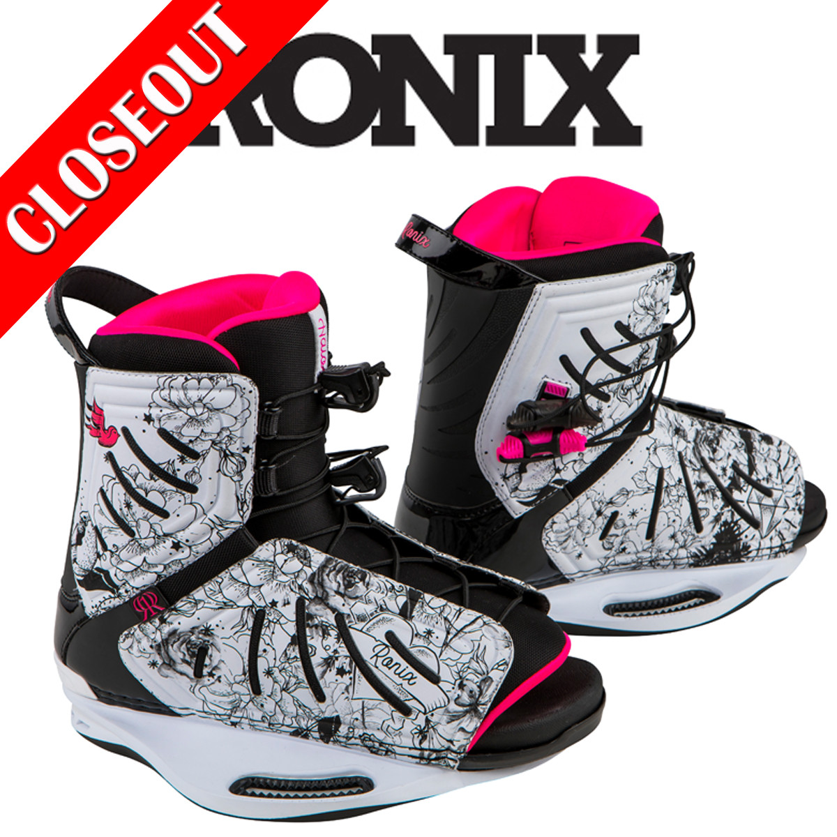Ronix Halo Wakeboard Bindings For The Lowest Price At