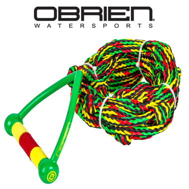 "O'Brien Floating Relax Rasta 24' Wakesurf Rope and 9"" Handle"