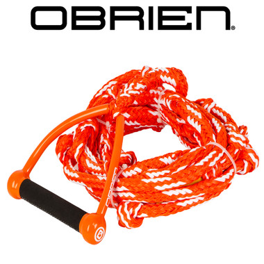 "O'Brien Floating Relax Orange 24' Wakesurf Rope and 9"" Handle"