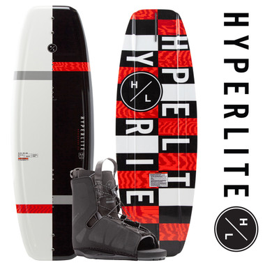 Hyperlite Motive 140cm Wakeboard Package with Frequency Bindings