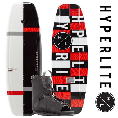 Hyperlite Motive 140cm Wakeboard Package with Frequency Bindings