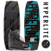 Hyperlite Baseline 141 cm Wakeboard Package with Remix Boots