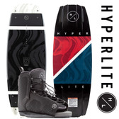 Hyperlite Franchise 142 cm  Wakeboard Package with Remix Boots
