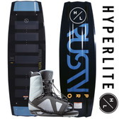 Hyperlite Rusty Pro 143 cm Wakeboard with Team Open Toe Boots