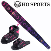 "HO Sports Women's Fusion Freeride 65"" Slalom Ski with FreeMax Front Boot & Adj Rear Toe"