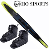 "HO Sports Omni 67"" Slalom Ski with Double FreeMax Front Boots"