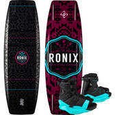 Ronix Quarter 'Til Midnight 134 cm Wakeboard Package with Halo Boots