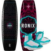 Ronix Quarter 'Til Midnight 134 cm Wakeboard Package with Luxe Boots