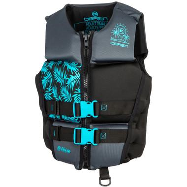 O'Brien Ladies Flex V-Back Neo Vest - Aqua