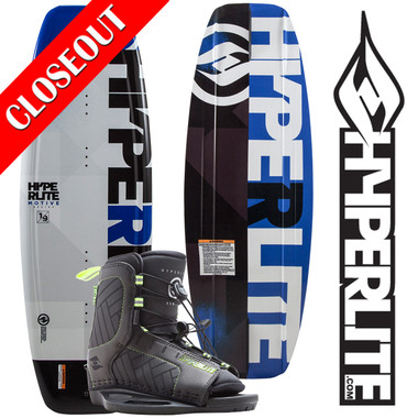 Hyperlite Motive 119 Kid's Wakeboard Package with Remix Boots ON SALE!