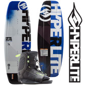 Hyperlite Motive 119 Kid's Wakeboard Package with Remix Boots