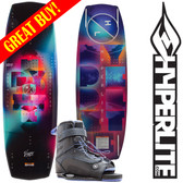 Hyperlite Venice 136 cm Women's Wakeboard Package with Blur Bindings