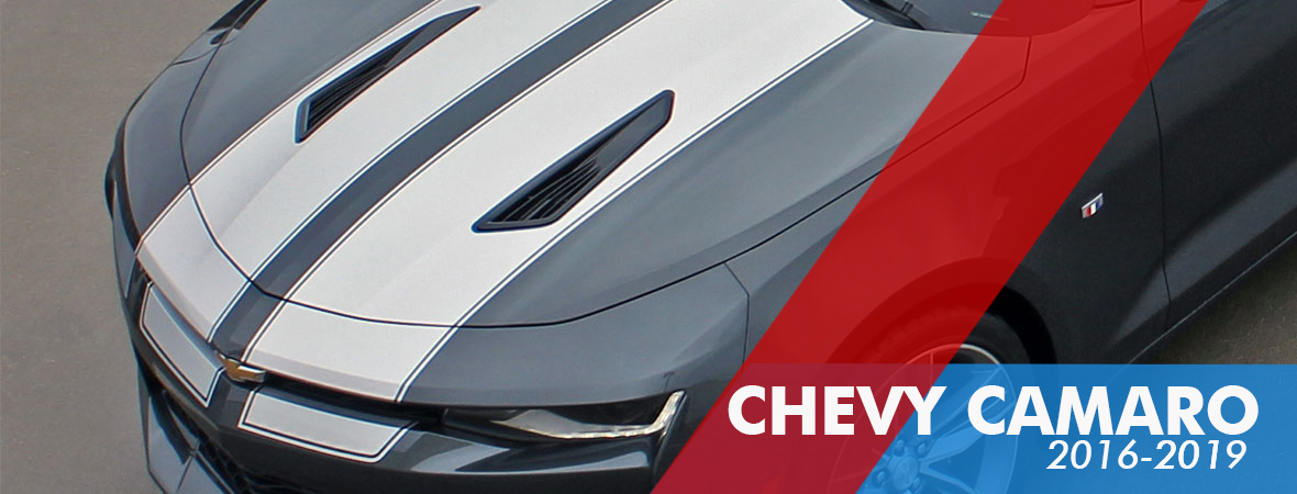 2016-2018 Chevy Camaro Vinyl Graphics - Body and Hood Decals - Racing Stripe Kits