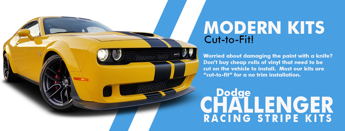 Dodge Challenger Stripes, Dodge Challenger Vinyl Graphics, Dodge Challenger Decals
