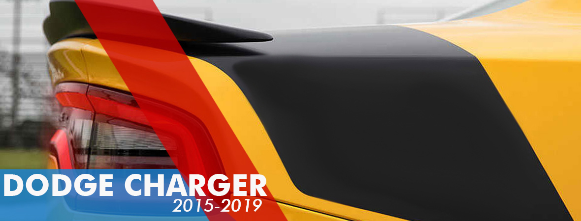2015-2018 Dodge Charger Vinyl Graphics - Hood Stripes Decals - Racing Stripe Kits