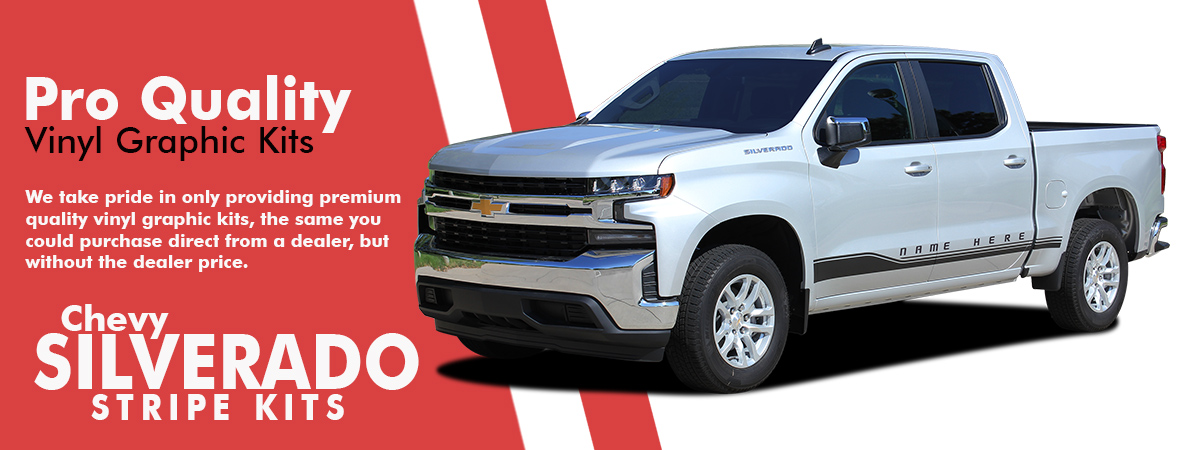 Chevy Silverado Stripes | Chevy Silverado Vinyl Graphics | Chevy Silverado Decals