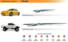 FOAM Universal Vinyl Graphics Decorative Striping and 3D Decal Kits by Sign Tech Media, Inc. (STM-FM)