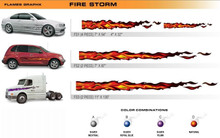 FIRE STORM Universal Vinyl Graphics Decorative Striping and 3D Decal Kits by Sign Tech Media, Inc. (STM-FS)