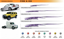 FIRE AND ICE Universal Vinyl Graphics Decorative Striping and 3D Decal Kits by Sign Tech Media, Inc. (STM-FR)