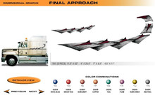 FINAL APPROACH Universal Vinyl Graphics Decorative Striping and 3D Decal Kits by Sign Tech Media, Inc. (STM-FA)