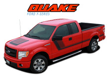 QUAKE PACKAGE : 2009 2010 2011 2012 2013 2014 Ford F-150 Hockey Stripe Tremor FX Appearance Style Side Doors and Hood Vinyl Graphics Decals Striping Kit (VGP-2547)