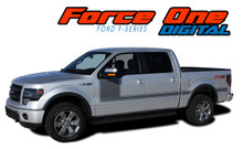 "FORCE ONE DIGITAL : 2009-2014 and 2015 2016 2017 2018 2019 Ford F-150 Hockey Stripe ""Appearance Package Style"" Vinyl Graphics Decals Kit (VGP-1972.3515)"