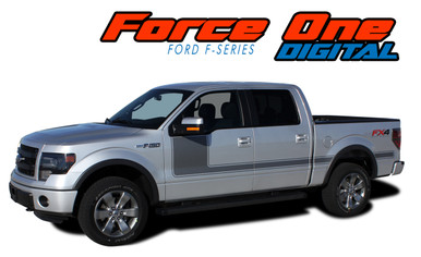 """FORCE ONE DIGITAL : 2009-2014 and 2015 2016 2017 2018 2019 2020 Ford F-150 Hockey Stripe """"Appearance Package Style"""" Vinyl Graphics Decals Kit (VGP-1972.3515)"""