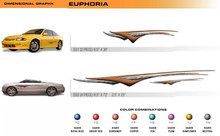 EUPHORIA Universal Vinyl Graphics Decorative Striping and 3D Decal Kits by Sign Tech Media, Inc. (STM-EU)
