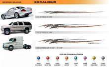 EXCALIBUR Universal Vinyl Graphics Decorative Striping and 3D Decal Kits by Sign Tech Media, Inc. (STM-EX)