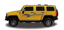ELUDER : Automotive Vinyl Graphics - Universal Fit Decal Stripes Kit - Pictured with HUMMER SUV (ILL-1216)