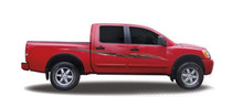 ELECTRO : Automotive Vinyl Graphics - Universal Fit Decal Stripes Kit - Pictured with NISSAN TITAN and FRONTIER (ILL-3602)