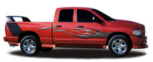 DEUCE : Automotive Vinyl Graphics - Universal Fit Decal Stripes Kit - Pictured with DODGE RAM 1500 (ILL-1398)