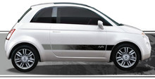 DRIFTER : Automotive Vinyl Graphics - Universal Fit Decal Stripes Kit - Pictured with FIAT 500 (ILL-876)