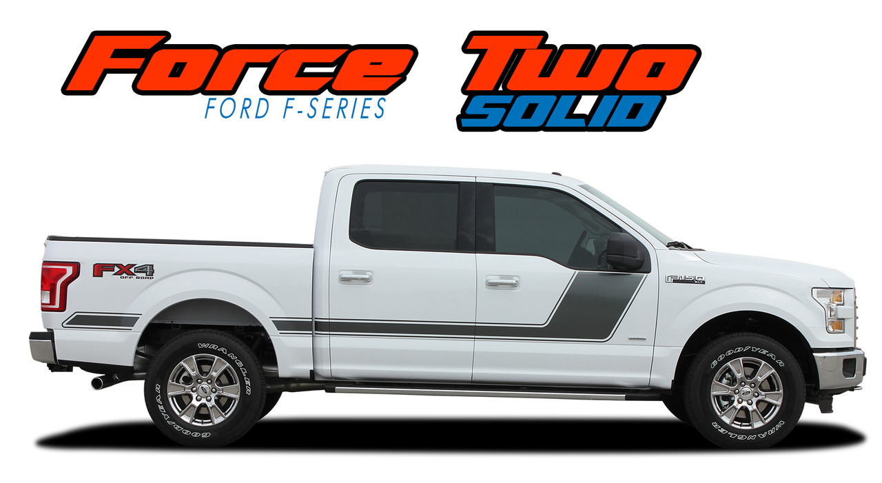 Force Two Solid Ford F150 Door Stripes F150 Decals F150 Graphics