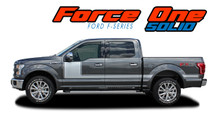 "FORCE ONE SOLID : 2009-2014 and 2015-2017 2018 2019 2020 Ford F-150 Hockey Stripe ""Appearance Package Style"" Vinyl Graphics Decals Kit (VGP-1976.3516)"