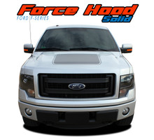 "FORCE HOOD SOLID : 2009 2010 2011 2012 2013 2014 Ford F-150 Hood ""Appearance Package Style"" Vinyl Graphic Solid Color Decal Kit (VGP-2074)"