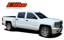 ELITE : 2014 2015 2016 2017 2018 Chevy Silverado Upper Body Pin Striping Vinyl Graphic Decal Stripe Kit (VGP-2366)