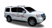 DIESEL : Automotive Vinyl Graphics - Universal Fit Decal Stripes Kit - Pictured with NISSAN SUV (ILL-HR10)